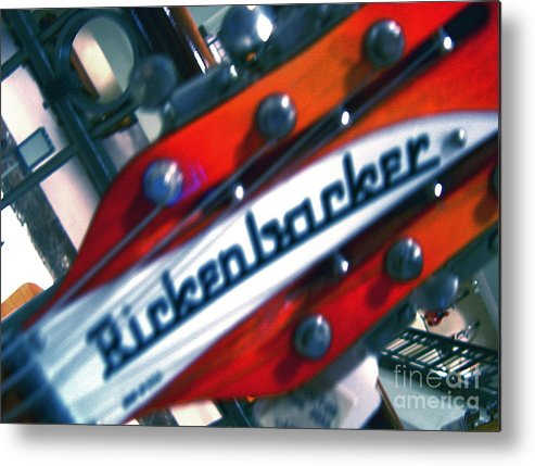 Guitars Metal Print featuring the photograph Rickenbocker by Sergio Geraldes