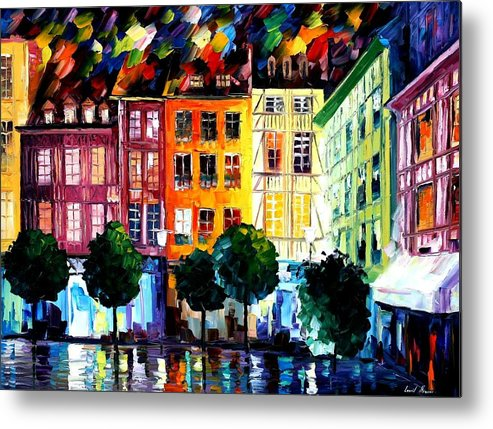 Afremov Metal Print featuring the painting Rouin France by Leonid Afremov