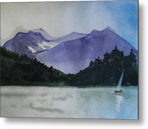 Sailing Metal Print featuring the painting Sailing On The Lake by Dottie Briggs