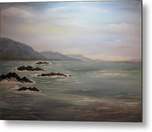 Oil Metal Print featuring the painting Seascape by Nancy Craig