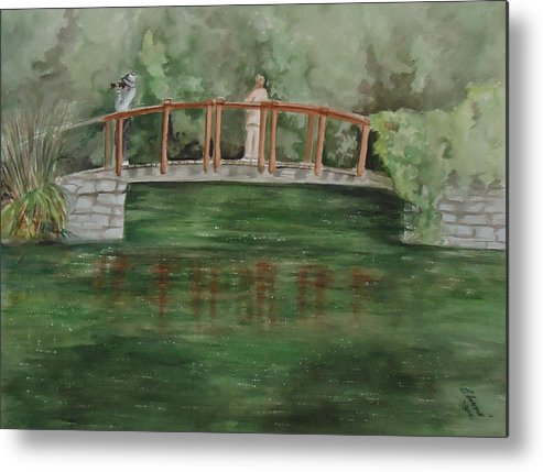 The Springs Makes Our Hearts Sing After Winter. Landscape Metal Print featuring the painting Signs Of Spring by Charme Curtin