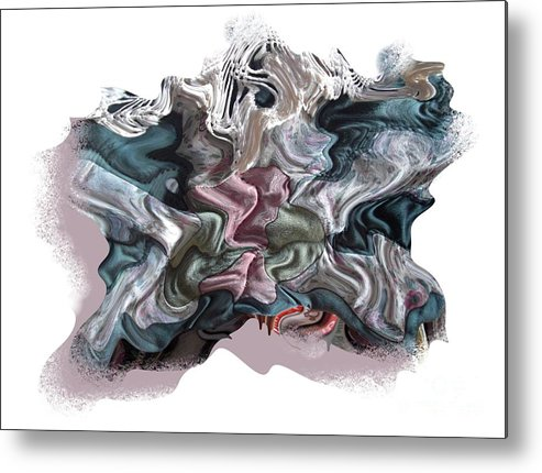 Abstract Metal Print featuring the digital art Snow Capped Cloth by Ron Bissett
