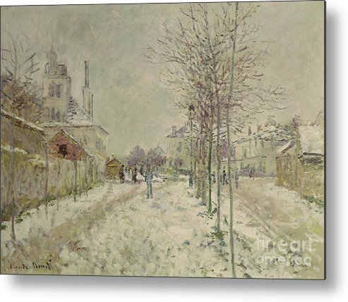Snow Effect Metal Print featuring the painting Snow Effect by Claude Monet