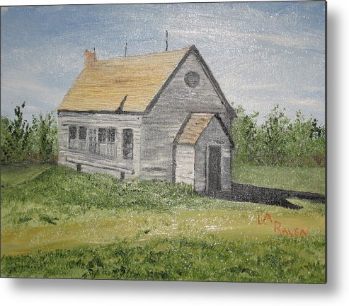 Old Building Metal Print featuring the painting Somebody Once Loved Me by L A Raven