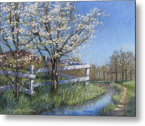 Pastel Painting Metal Print featuring the painting Spring Fare by L Diane Johnson