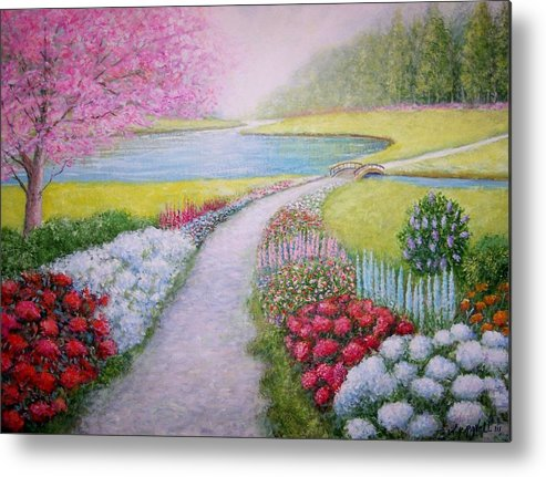 Landscape Metal Print featuring the painting Spring by William H RaVell III