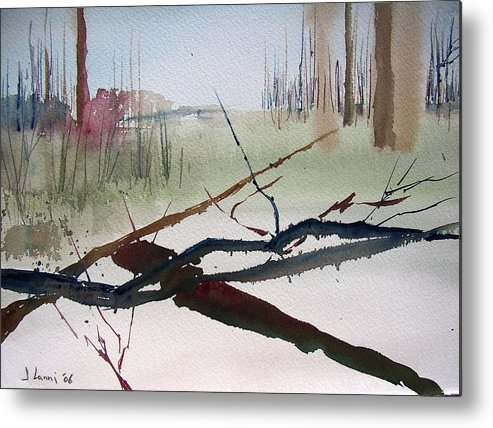 Abstract Metal Print featuring the painting Sticks And Stones by Joe Lanni