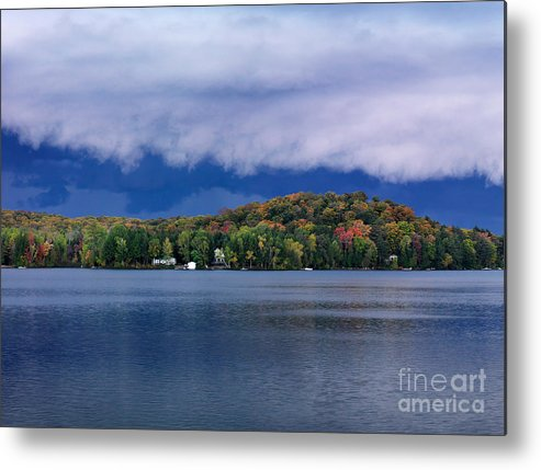 Lake Metal Print featuring the photograph Storm Clouds Over The Lake Of Bays by Oleksiy Maksymenko