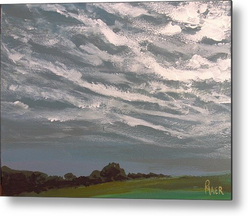 Storm Metal Print featuring the painting Storm Front by Pete Maier