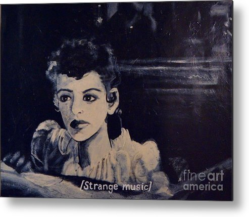 Strange Metal Print featuring the painting Strange Music by Wess Loudenslager