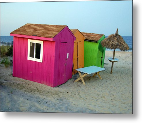 Summer Metal Print featuring the photograph Summertime At The Jersey Shore by Heather S Huston