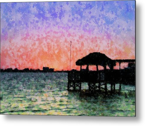 Sunset Metal Print featuring the mixed media Sunset Prism by Florene Welebny