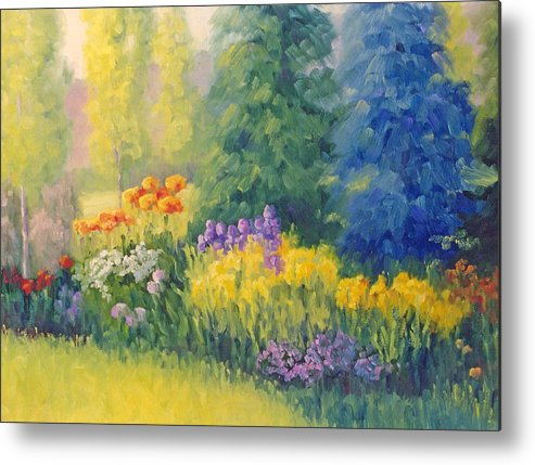 Garden Metal Print featuring the painting Symphony Of Summer by Bunny Oliver