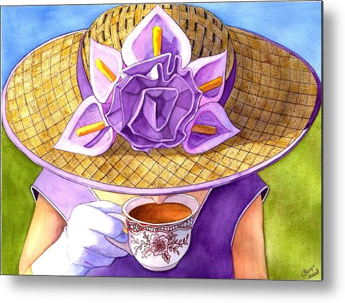Tea Metal Print featuring the painting Tea Party by Catherine G McElroy