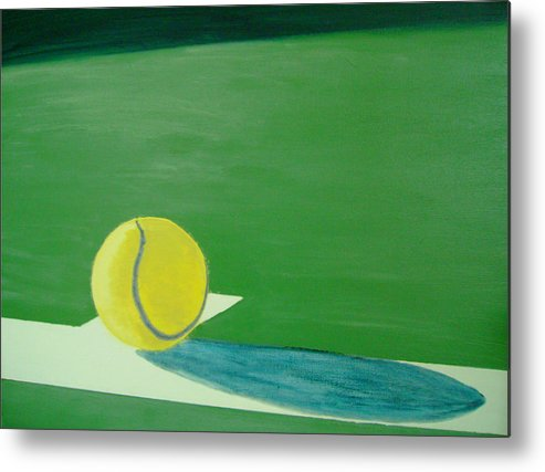 Tennis Metal Print featuring the painting Tennis Reflections by Ken Pursley
