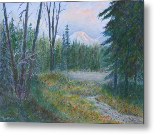 Landscape Metal Print featuring the painting Teton Valley by Ben Kiger