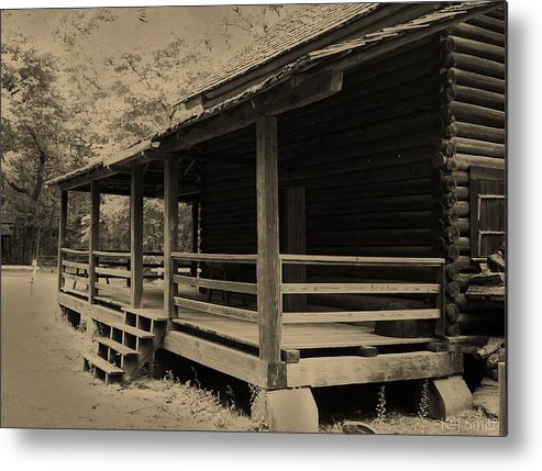 Log Cabin Metal Print featuring the photograph The 1800 by Tekeja Smith