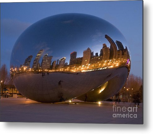 Reflection Metal Print featuring the photograph The Bean - Millenium Park - Chicago by Jim Wright