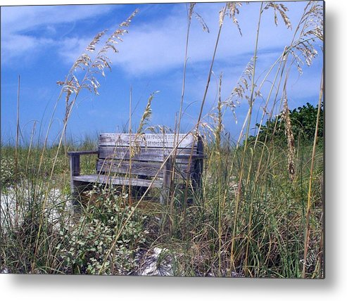 Bench Metal Print featuring the photograph The Bench by Robin Monroe