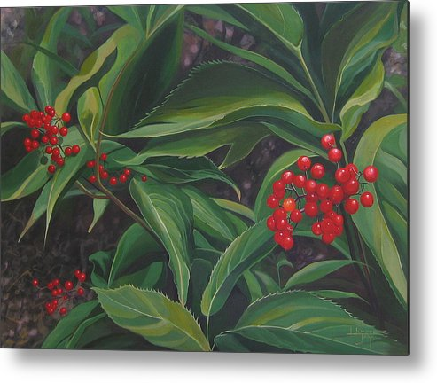 Berries Metal Print featuring the painting The Berries On Guanella Pass by Hunter Jay