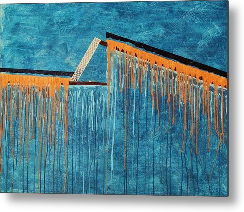 Abstract Metal Print featuring the painting The Bridge Of Hope by Ofelia Uz