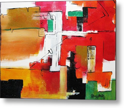 Acrylic Metal Print featuring the painting The Hood by Gary Smith