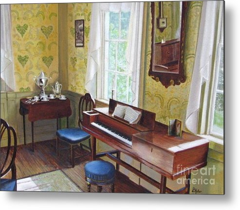 Paintings Metal Print featuring the painting The Ladies Parlor by Donald Hofer