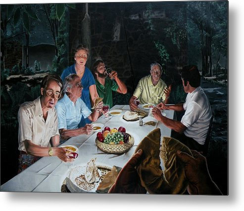 Last Supper Metal Print featuring the painting The Last Supper by Dave Martsolf
