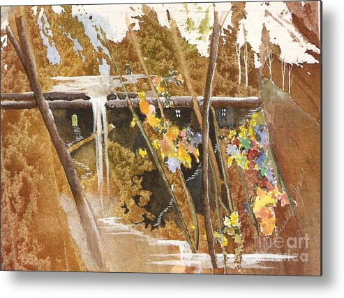 Fantasy Metal Print featuring the painting The Other Place by Jackie Mueller-Jones