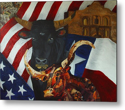 Texas Metal Print featuring the painting The State Of The Union by Karen Rester