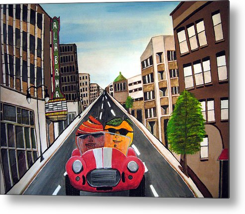 Birmingham Metal Print featuring the painting The Truth About Apples And Oranges by Sharon Supplee