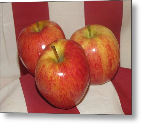 Apple Metal Print featuring the photograph Threes Company by Don Howard