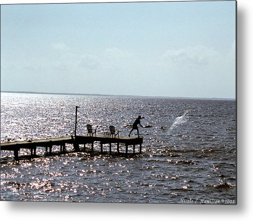 Fishing Metal Print featuring the photograph Throwing The Net by Nicole I Hamilton