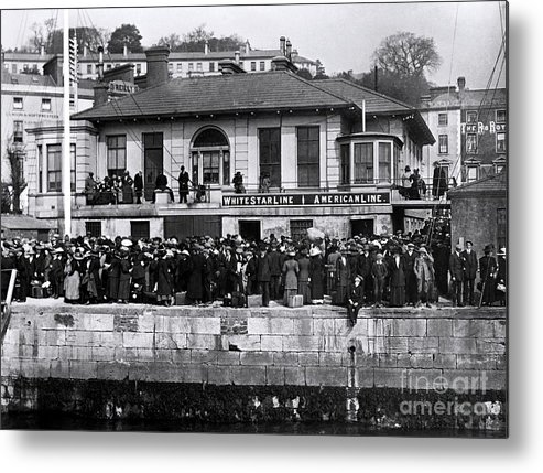 Titanic Metal Print featuring the photograph Titanic - White Star Wharf, Queenstown. by The Titanic Project