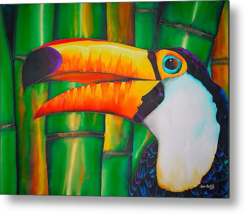 Toucan Painting Metal Print featuring the painting Toco Toucan by Daniel Jean-Baptiste
