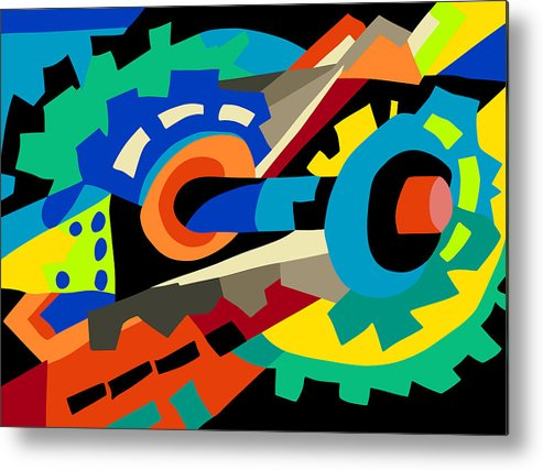 Abstract Prints Metal Print featuring the painting Top Gear by Ralf M Broughton