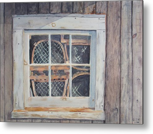 Lobster Traps Metal Print featuring the painting Tucked Away by Debbie Homewood