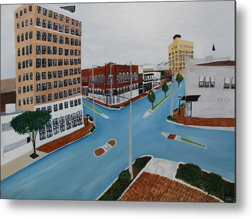 Tuscaloosa Metal Print featuring the painting Tushka Lusa by Tammy Dunn