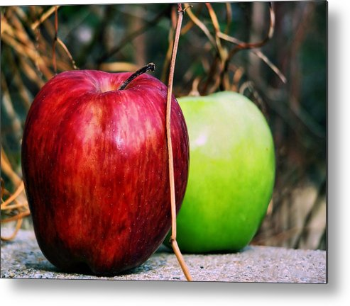 Apple Metal Print featuring the photograph Two Forty Six by Karen Scovill