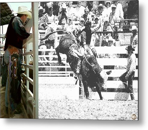 Rodeo Metal Print featuring the digital art Up Next by Karen Johnston