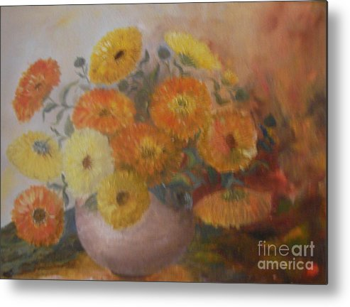 Still Life Metal Print featuring the painting Van Gogh Again by Neil Trapp