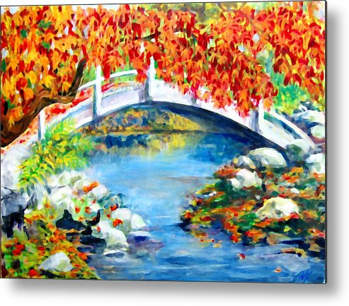 Painting Metal Print featuring the photograph Vermont Bridge by Lyn Vic