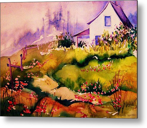 Cottagescenes Metal Print featuring the painting Vermont Summers by Carole Spandau