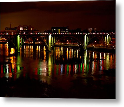 Christmas Metal Print featuring the photograph View From The Gay Street Bridge by Ron Plasencia