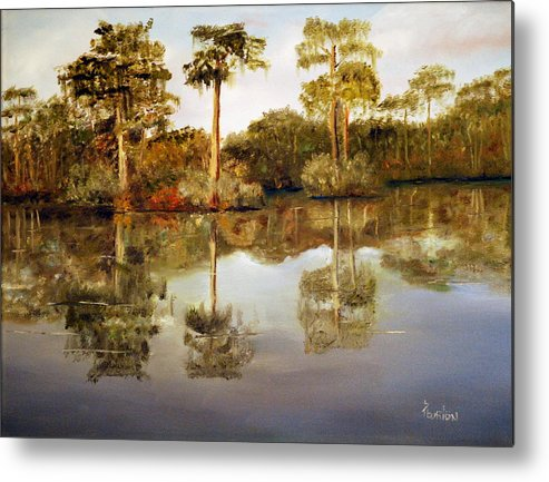Waccamaw Metal Print featuring the painting Waccamaw River by Phil Burton