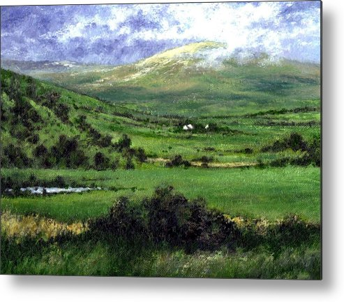 Landcape Metal Print featuring the painting Way To Ardara Ireland by Jim Gola