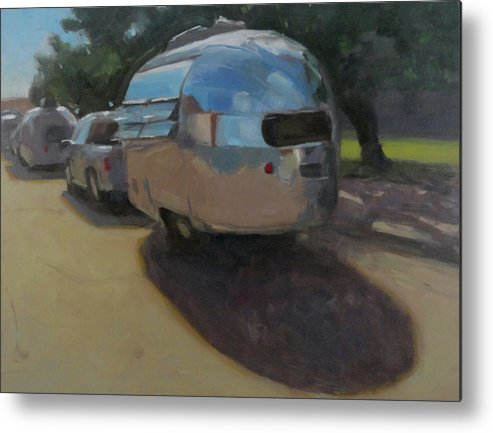 Airstream Metal Print featuring the painting Wee Wind by Elizabeth Jose