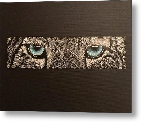 Snow Metal Print featuring the mixed media What I See by Brenda Brown