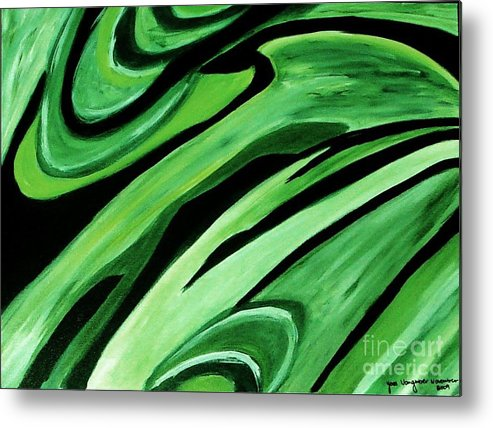 Painting Metal Print featuring the painting Wild Green by Yael VanGruber