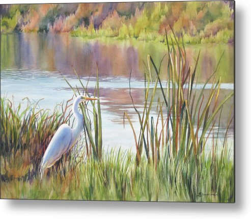 Marsh Metal Print featuring the painting Wildlife Refuge by Sue Zimmermann